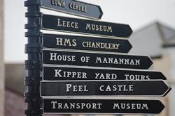 Peel attractions signpost