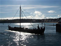 The Vikings leaving Peel