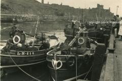 Fishing boats in Peel 1950s