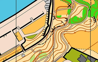Peel Headlands orienteering map extract