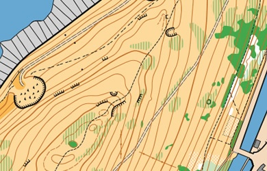 Peel Hill Orienteering map