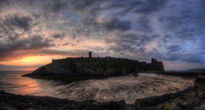 2nd: Peel Castle and Fenella Beach by John Bennett