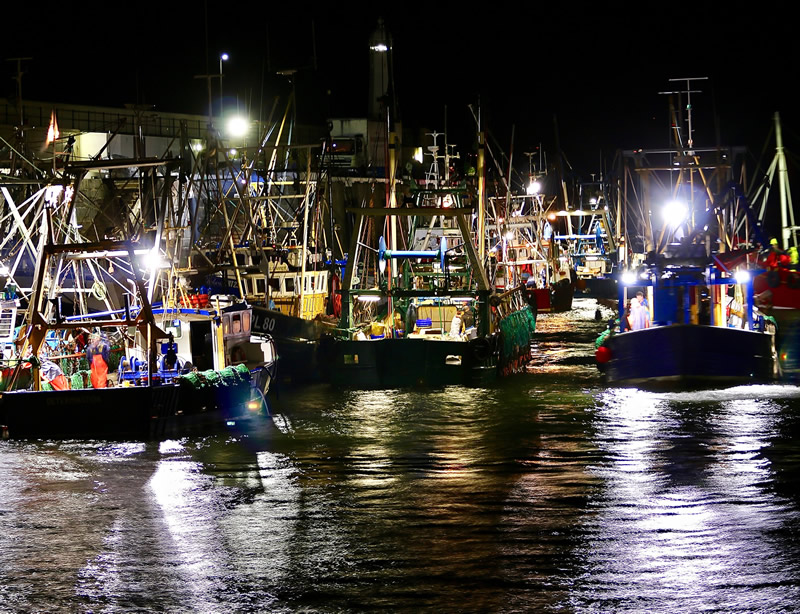 WINNER: Fishing boats at night by Tracey Killey