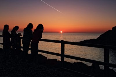 Enjoying the sunset at Fenella, by Mary Davies