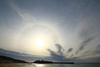 Halo round the sun, by Dave Corkish