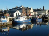 Vibrant blues down at the marina on a very rare sunny November lunchtime before the storms really got started, by Judith Booth