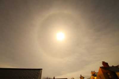 Moon Halo seen over Peel, by Dave Corkish