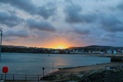 Sunrise from the breakwater, by Dave Corkish