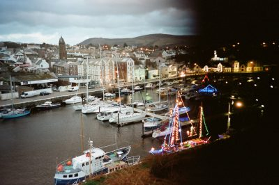 A festive Peel Harbour, by Paul Fargher