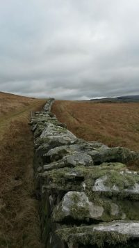 Wall at the back of the hill, by Les Quilliam
