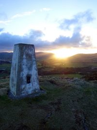 Sunrise at trig point, by Lynn Chambers