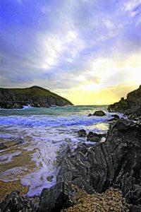 Spumy shoreline, by Tony Faragher