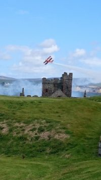 Peel day photo from peel castle, by Mel Hannay