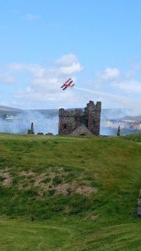 Peel day photo from peel castle, by Mel Hannay