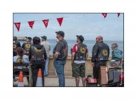 Moddey Dhoo members watching the wingwalkers, by Mike Radcliffe