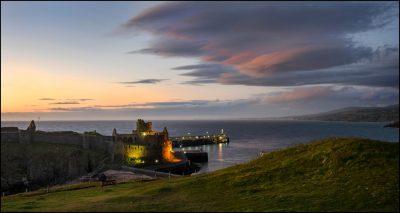 Castle sunset by Doreen Kelly