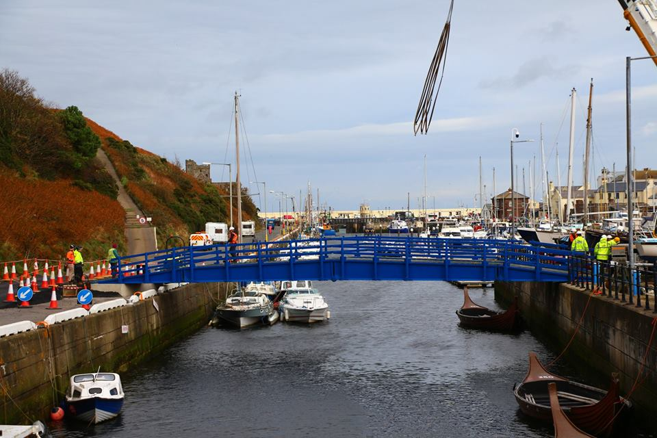 Harbour Road Bridge Construction - photo copyright Dave Corkish