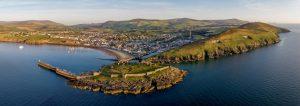 Aerial shot of Peel by Dave Lewin